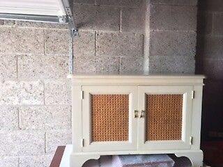 Laura Ashley storage/TV unit white and rattan