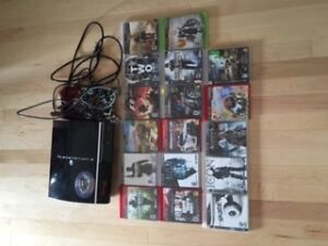 ps3 for sale, many games and 3 controllers.