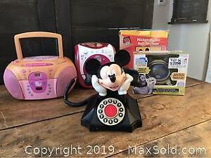 Collectible Mickey Mouse Phone and Radios