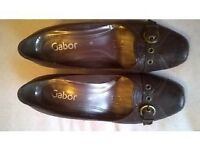 Brown Leather Gabor Shoes Size 5