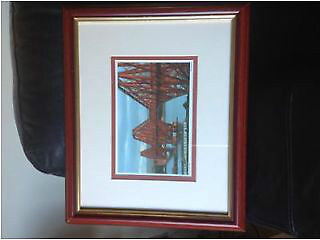 "Picture of the forth rail bridge wonders of the fourth by bill robertson fine art size 16""x15"""
