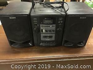 Sony Boom Box CD Cassette Radio