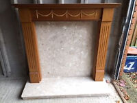 Fireplace Surround with Marble back and hearth