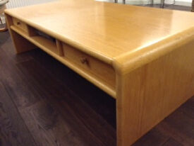 bespoke extra large coffee table with curved sides
