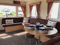 6 Berth Double Glazed Central heated static caravan Ayrshire coast.