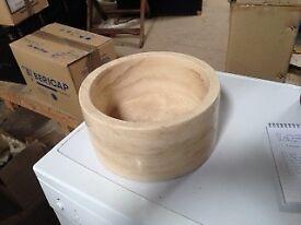 Circular stone wash hand basin