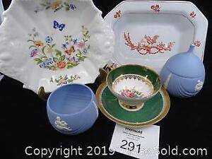 Aynsley Tray, Wedgwood and Stanley China Teacup