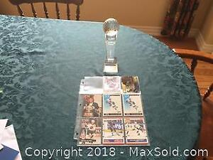 Walter Gretzky Trophy Plus And Hockey Cards B