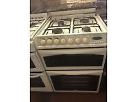 WHITE 60CM DUEL FUEL BELLING GAS COOKER