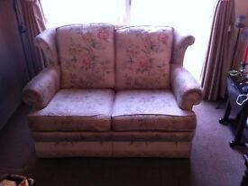 Two Seater Sofa - Pink Floral Design