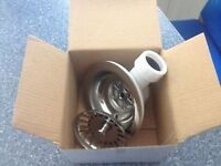 sink waste and straining basket with overflow outlet brand new