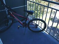 "24"" Mongoose Frontier FS bike with lock"