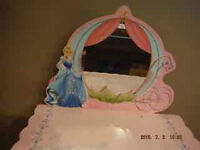 Cinderella Vanity Table and Stool