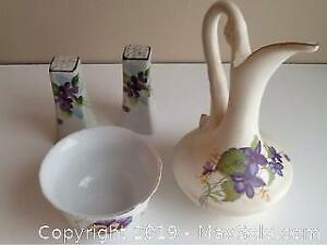 Vintage Floral China And Pottery