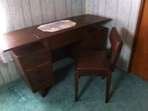 Sewing Machine Cabinet with Chair