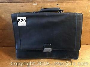 Kenneth Cole New York Leather Briefcase A