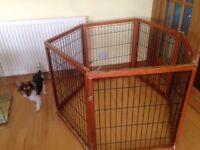 Puppy playpen - wodden made, hexagonal shape