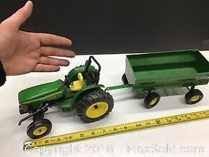 large John Deere DieCast Tractor and wagon