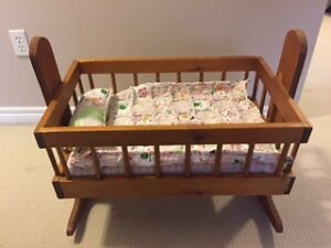 Handmade Wooden Doll Cradle for Sale