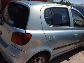 Toyota Yaris Spirit, 5 door, Diesel, pale blue metallic, CD player, manual, great fuel efficiency