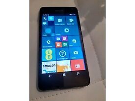 MICROSOFT LUMIA 650 BLACK COLOUR AND ON EE NETWORK. MINT A