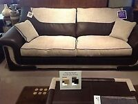 Luxury 2 x 3 Seater Sofas with Foam-Filled Seat Cushions worth ***£750 each***