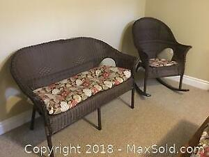 Wicker Chair Set Of 3