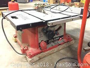 "Skilsaw Table saw (10"") with Pini Compressor - both working fine"