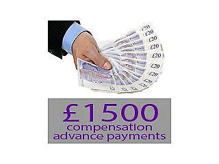 £1500.00 advance payment   personal injury claim   car accident compensation claims   referral fee