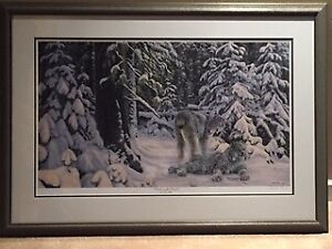 Framed and Mounted Winter in the Boreal