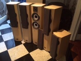 Technics SB-CA21 4 x 100W TOWER LOUDSPEAKERS plus 1 x 100W SUBWOOFER £995