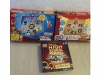 High school Musical and HSM 3 Dance Mats and High School Musical DVD game. Excellent condition.