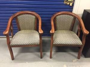 Upholstered timber chairs, set $50.00 or $30.00each Lane Cove Lane Cove Area Preview