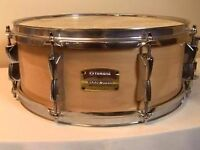"""10"""" Yamaha Wood Shell Snare Drum (Natural Finish) - Only £60.00"""