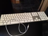 Apple Mac White USB Wired Extended Keyboard and Mouse