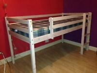 Single Mid-sleeper bed with mattress