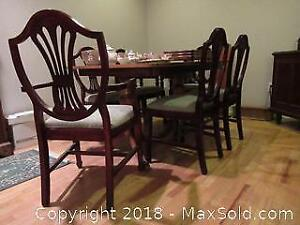 F. Dining Table And Chairs C