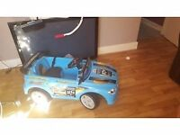 Boys electronic car with parents remote control 2-4 years