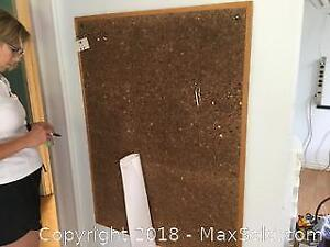 Cork Board And Colourful Sponge Mats B