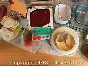 Tupperware And Casserole Dishes B