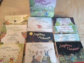 12 Angelina Ballerina Hard Back Book Box Set