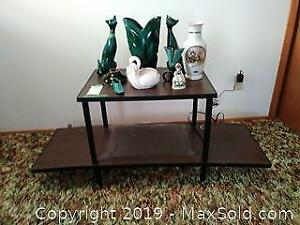 TV Table and Figurines A