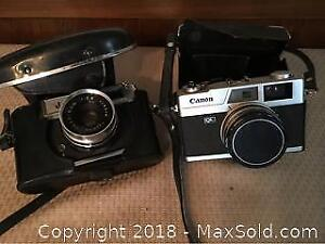 Yashica and Canon Camera