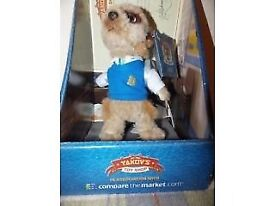 OLEG - Compare The Meerkat Official Plush Toy In box with certificate BRAND NEW - CLACTON CO15 6AJ