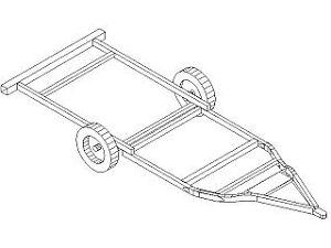 Cadre (frame) de roulotte Trillium 1300