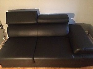 Black Modern Leather Couch