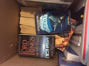 Box of assorted fantasy and science fiction
