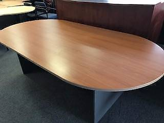 SECOND HAND   OVAL BOARD TABLE 2400 X 1200 (3103s)
