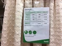 Curtains - TWO Pairs of Omega - Natural Colour - BRAND NEW
