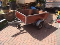 "Car Trailer 1.000m x 1.660 (Approx 3' 4"" x 5' 6"") Galvenised frame"
